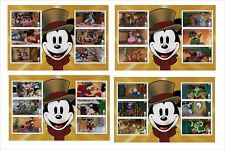 MICKEY MOUSE CHRISTMAS CAROL  DISNEY  8  SOUVENIR SHEETS animation cartoons