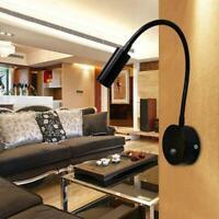 220V lampes de lecture flexibles maison chevet lampe murale 3W LED lampe