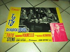 fotobusta  TOTO DIABOLICUS 1962 1 EDIZIONE STENO,FASCISMO MUSSOLINI