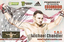 MICHAEL CHANDLER SIGNED AUTO'D 11X17 PROMO POSTER PHOTO MMA BELLATOR STRIKEFORCE