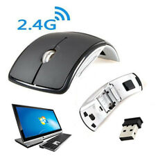 Black 3D Optical Wireless Foldable Mouse 2.4GHz 1200 DPI 10 Meters Range Windows