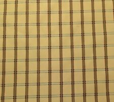 "AVARI YELLOW RED PLAID TAFFETA WOVEN FAUX SILK MULTI-USE FABRIC BY THE YARD 54""W"