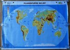 carte d'école - grande affiche scolaire - planisphère politique