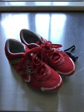 Adidas Running Spikes Size  UK5  VGC used red / white