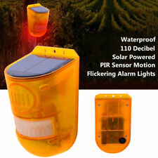 HOT!! Solar Alarm Light Wireless PIR Motion Sensor Garden Security Lamp Outdoor~