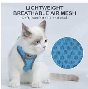 ThinkPet Reflect No-Pull Choke-Free Harness, Blue Cat Harness XXS