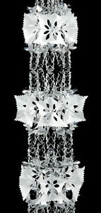 Large Silver & White pull out foil Christmas Garland Decoration 8 sections  2.7m