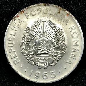 Romania, Leu, 1963, UNC, Nickel Clad Steel, KM:90