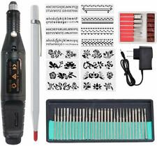 54Pcs Electric Micro Engraver Pen DIY Engraving Tool Kit for Jewelry Metal Glass