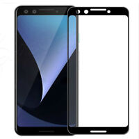 Black FULL Cover 3D Tempered Glass Screen Protector Front For Google Pixel 3