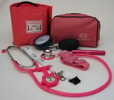 Nurse Starter Set Pink Aneroid Blood Pressure Sphygmomanometer Stethoscope