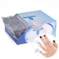 200Pcs Women Easy Nail Art Cleaner Foil Gel Polish Remover Wraps Acetone Kit GW