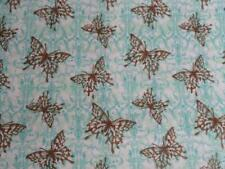 """Pack N Play Cover/Flannel/ Large (27X39"""") - Brown Butterflies On Blue Print"""