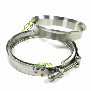 """5"""" Stainless Exhaust V-Band Clamp+T6 Flange for S400 Turbo T6 S400SXE S475 S480"""