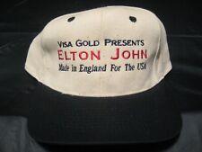 Vintage Visa Gold Presents Elton John Made in England For The Usa Concert Hat
