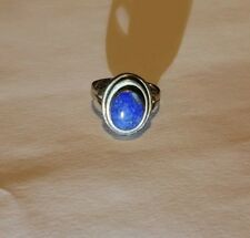 Vintage 950 Silver And Lapis Ring Size 8.75