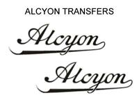 Alcyon Tank Transfers Decals Motorcycle D155 Black Silver Sold as a Pair