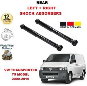FOR VW TRANSPORTER T5 MARK 5 MK5 2009-2016 REAR SHOCK ABSORBER SHOCKERS SET