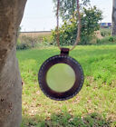 Nautical Magnifying Lens Pendent Leather Rimmed Megnifying Pendent