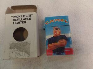 VINTAGE NEW IN BOX JOE CAMEL SHOWING PHYSIQUE CAMEL LIGHTS CIGARETTE LIGHTER