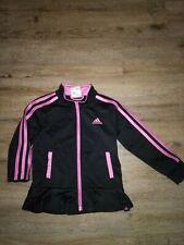 Girls Adidas Black/Pink Ruffle Bottom Jacket Sz 3T