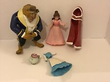 Disney Magiclip Doll Beauty & The Beast BELLE & PRINCE +  RUBBER Outfits