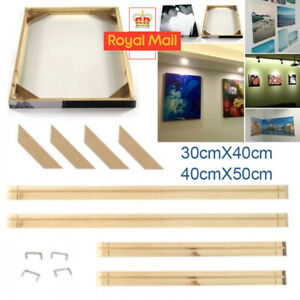 Canvas Stretcher Bars Frames Wooden Strips Kits for Oil Painting Gallery DIY UK