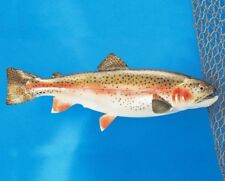 "Rainbow Trout Taxidermy Fish Mount Decor 13"""