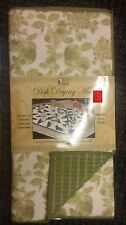 """Kitchen Microfiber Quick Drying Mat, washable, (16""""x 24"""") GREEN FRUITS by BH"""