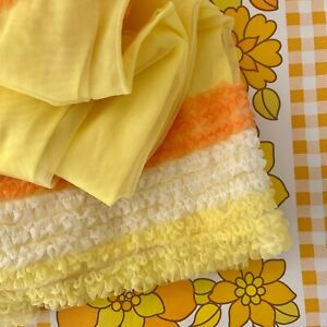 Photo Shoot Vintage Lingerie Night Wear Baby Doll Yellow Lace