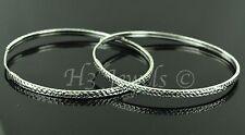 18k  white gold diamond cut hoop earring earrings  2.80 grams 1 5/8 inches #1819