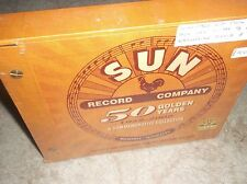 "SUN RECORDS - 50 GOLDEN YEARS , ultra-rare 8-CD + Elvis 7"" Single Box Set , New"