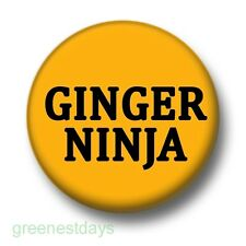 Ginger Ninja 1 Inch / 25mm Pin Button Badge Redhead Flame Haired Humour Funny