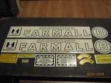 """Farmall B Decal Set 1945-1952 """"IH McCORMICK FARMALL""""  Free Shipping"""