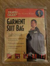 Travel Smart Heavy Duty Pebble Vinyl Garment Suit Bag Victor Kiam