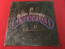 JOHN FOGERTY CENTERFIELD SIGNED VINYL LP ALBUM CREEDENCE CLEARWATER REVIVAL CCR