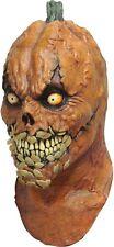 Pumkevil Evil Pumpkin Spitting Seeds Adult Latex Mask Horror Halloween Unisex