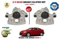 FOR MAZDA 3 BL 1.6 2.0 2.2 2.3 TD MPS 2009-> 2X REAR LEFT + RIGHT BRAKE CALIPER