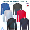 FRUIT OF THE LOOM Unisex Original Long Sleeve Tee Pure Cotton Crew Neck T-Shirt