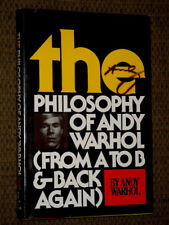 SIGNED TWICE The Philosophy of Andy Warhol From A to B and Back Again 1975 RARE