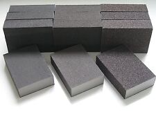 12 X MIXED GRITS WET AND DRY SANDING BLOCK / PADS FINE MEDIUM COARSE ABRASIVE