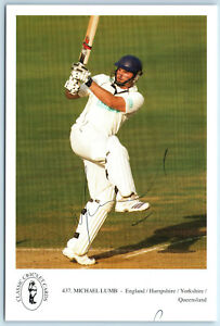 Michael Lumb England / Queensland Signed Classic Cricket Card No. 437 Autograph