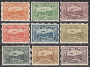 New Guinea 1939 KGVI Bulolo Airmail Set to 9d Mint SG212-220