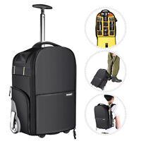 Neewer 2-in-1 Wheeled Camera Backpack Luggage Trolley Case