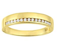 9ct yellow gold created diamond wedding band from our Bridal range size J