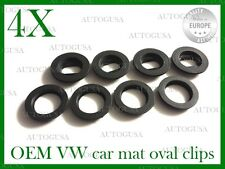 OVAL VW SKODA FORD PORSCHE MAZDA CAR MAT CLIPS FLOOR HOLDERS FIXING CLAMPS 4 X