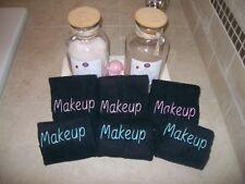 Black Makeup Remover Washcloths- Set of 6