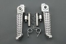Silver Front Foot Pegs Footrest For Yamaha YZF R1 1998-2012 YZF R6 1999-2012