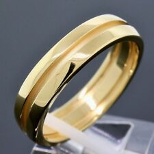 Tiffany & Co. 18K Yellow Gold 6MM Wide Atlas Groove Wedding Band Ring Size 12