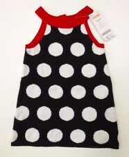 NWT Gymboree Winter Penguin 12-18 Months Black White & Red Halter Sweater Dress